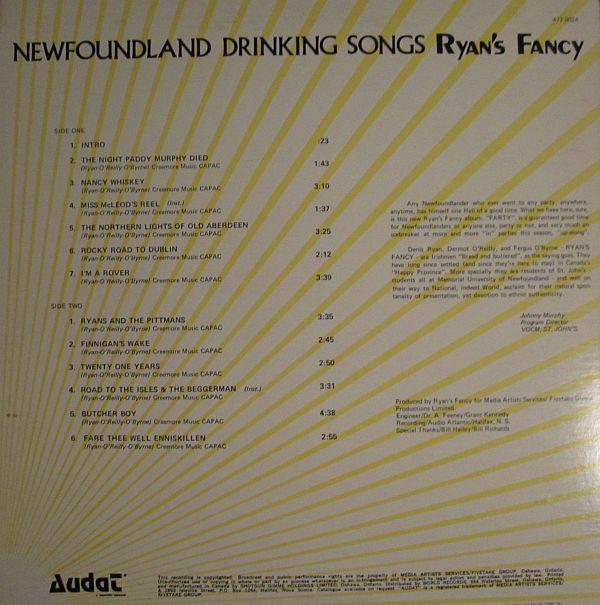 Ryan's Fancy - Newfoundland Drinking Songs